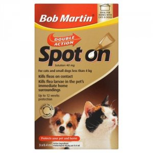Bob Martin Double Action Spot On Cat/Small Dog Pack of 3