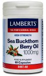 Lamberts Sea Buckthorn Berry Oil 1000mg Capsules Pack of 60