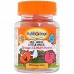 Haliborange Mr Men Omega-3 & Multivitamins Orange Softies Pack of 30