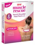 Deep Heat Muscle Rescue Neck & Shoulder Patch Pack of 2