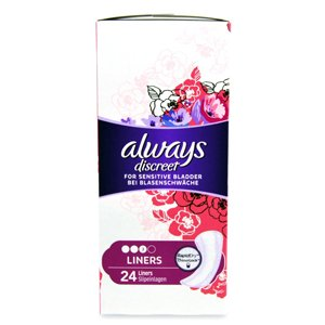 Always Discreet Liners Pack of 24