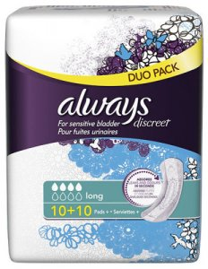 Always Discreet Long Pads Pack of 20