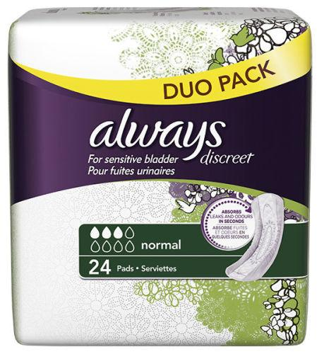Always Discreet Normal Pads Pack of 24