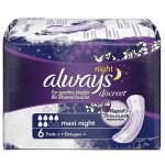 Always Discreet Maxi Night Pads Pack of 6