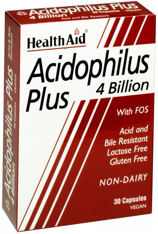 HealthAid Acidophilus Plus 4 Billion Capsules Pack of 30
