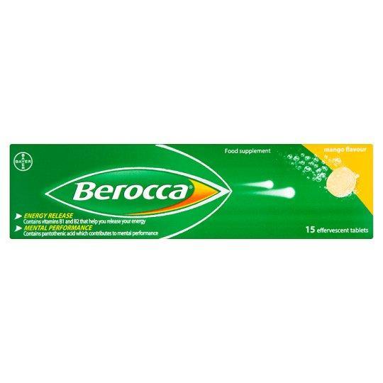 Berocca Mango Effervescent Tablets Pack of 15