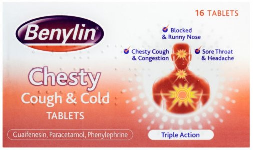 Benylin Chesty Cough & Cold Tablets Pack of 16