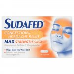 Sudafed Congestion Headache Max Strength Capsules Pack of 16