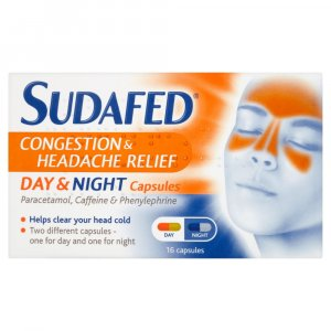 Sudafed Congestion & Headache Day & Night Capsules Pack of 16
