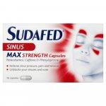 Sudafed Sinus Max Strength Capsules Pack of 16