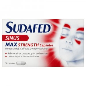 Sudafed Sinus Max Strength Capsules Pack of 16