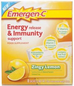 Emergen-C Energy Release & Immunity Support Lemon Sachets Pack of 8