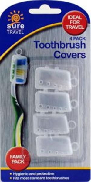 Sure Travel Toothbrush Covers Pack of 4