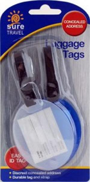 Sure Travel Luggage Tags Pack of 2