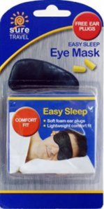 3ce7a2f0c Sure Travel Easy Sleep Eye Mask with Ear Plugs