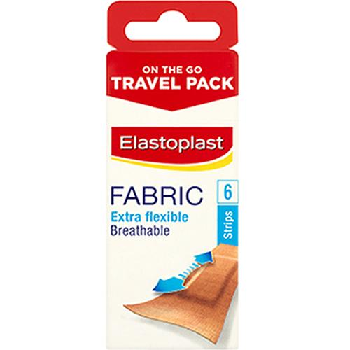 Elastoplast Fabric Strips On the Go Pack of 6