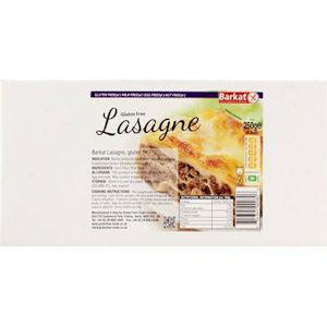 Barkat Gluten & Wheat Free Lasagne 250g