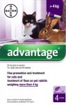 Advantage for Large Cats & Rabbits Pack of 4 Pipettes