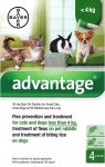 Advantage for Minature Dogs, Cats & Rabbits Pack of 4