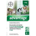 Advantage for Miniature Dogs, Cats & Rabbits Pack of 4