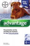 Advantage for Large Dogs Pack of 4 Pipettes