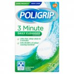 Poligrip 3 Minute Daily Cleanser Tablets Pack of 30