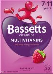 Bassetts Multivitamins Raspberry Flavour 7 - 11 years Pack of 30