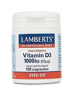 Lamberts Vitamin D (D3 form) 1000iu Capsules Pack of 120