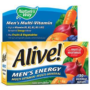 Alive! Men's Energy Tablets Pack of 30