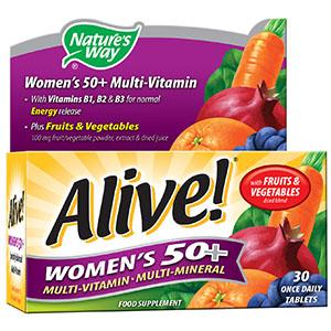 Alive! Women's 50+ Tablets Pack of 30