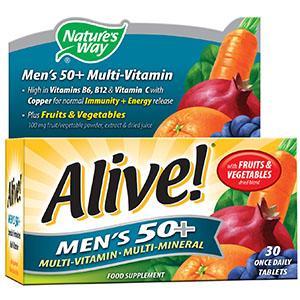 Alive! Men's 50+ Tablets Pack of 30