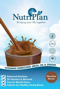 Nutriplan Meal in a Drink Sachets Chocolate Pack of 8