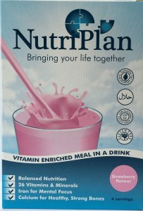 Nutriplan Meal in a Drink Sachets Strawberry Pack of 8