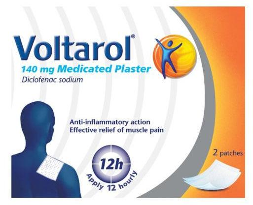 Voltarol 140mg Medicated Plaster Pack of 2