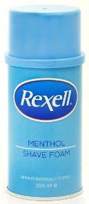 Rexell Menthol Shave Foam 300ml
