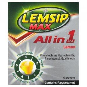 Lemsip Max All in One Lemon Sachets Pack of 4