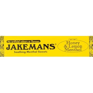 Jakemans Cough Sweets Honey & Lemon Menthol 41g