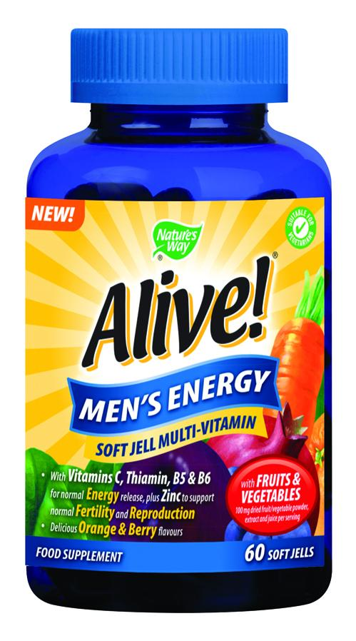 Alive! Men's Energy Soft Jells Pack of 60