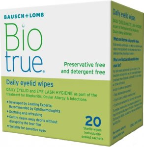 Biotrue Daily Sterile Eyelid Wipes Pack of 20