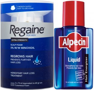 Regaine Men Foam Triple Pack & Alpecin Liquid 200ml