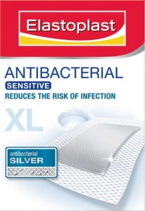 Elastoplast Antibacterial Dressings XL Sensitive 6 x 7cm Pack of 5