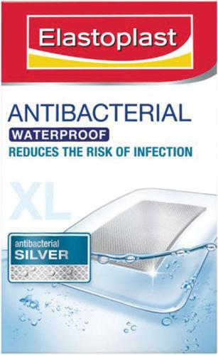 Elastoplast Antibacterial Dressings XL Waterproof 6 x 7cm Pack of 5