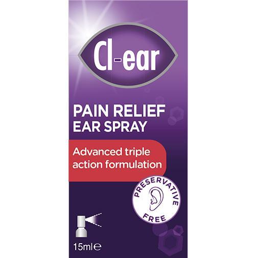 Cl-ear Pain Relief Ear Spray 15ml