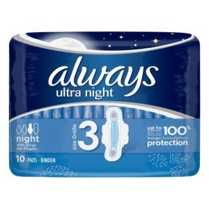 Always Ultra Night Pads Pack of 10