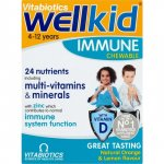 Wellkid Immune Chewable Orange & Lemon Flavour Pack of 30
