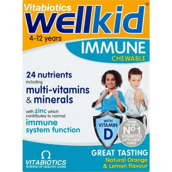 Wellkid Immune Chewable Orange & Lemon Flavour Pack of 30