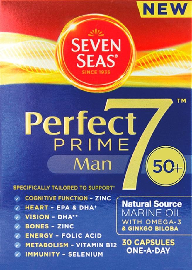 Seven Seas Perfect 7 Prime Man Capsules Pack of 30