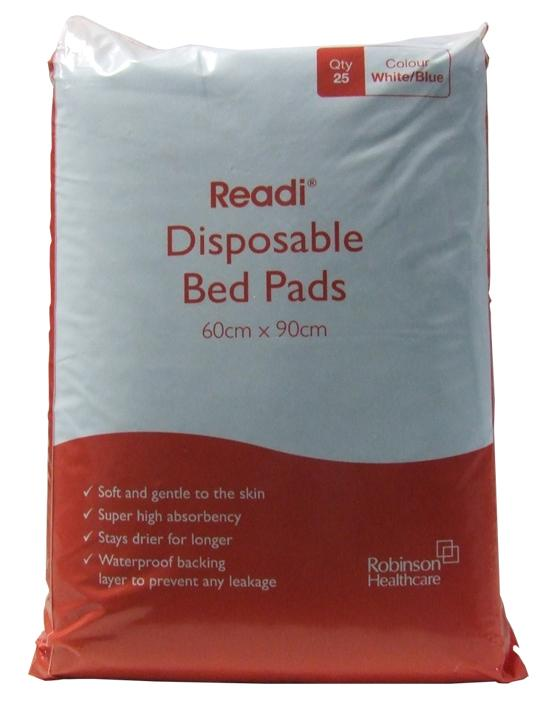 Readi Disposable Bed Pads 60cm x 90cm Pack of 25