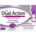 MAC Dual Action Blackcurrant Flavour Lozenges Pack of 16