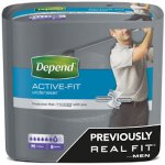 Depend Active Fit Incontinence Underwear for Men Medium Pack of 8